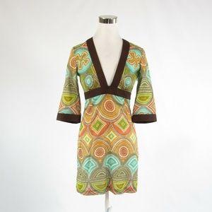 Milly brown cotton kimono sleeve dress 4